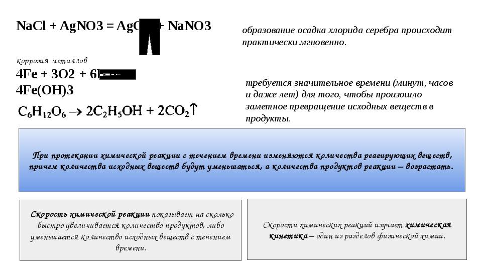 NaCl + AgNO3 = AgCl + NaNO3 образование осадка хлорида серебра происходит пра...