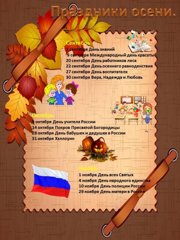 Картинки оформления стенда в доу на тему осень