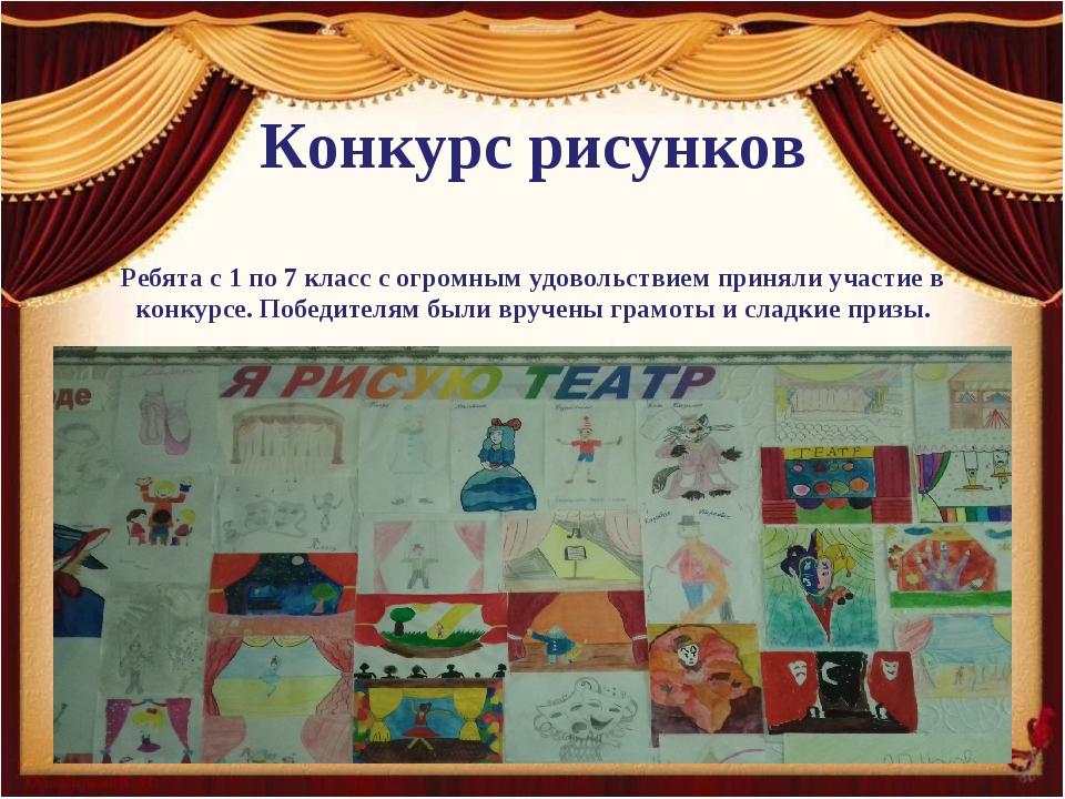 Конкурс рисунков Ребята с 1 по 7 класс с огромным удовольствием приняли учас...