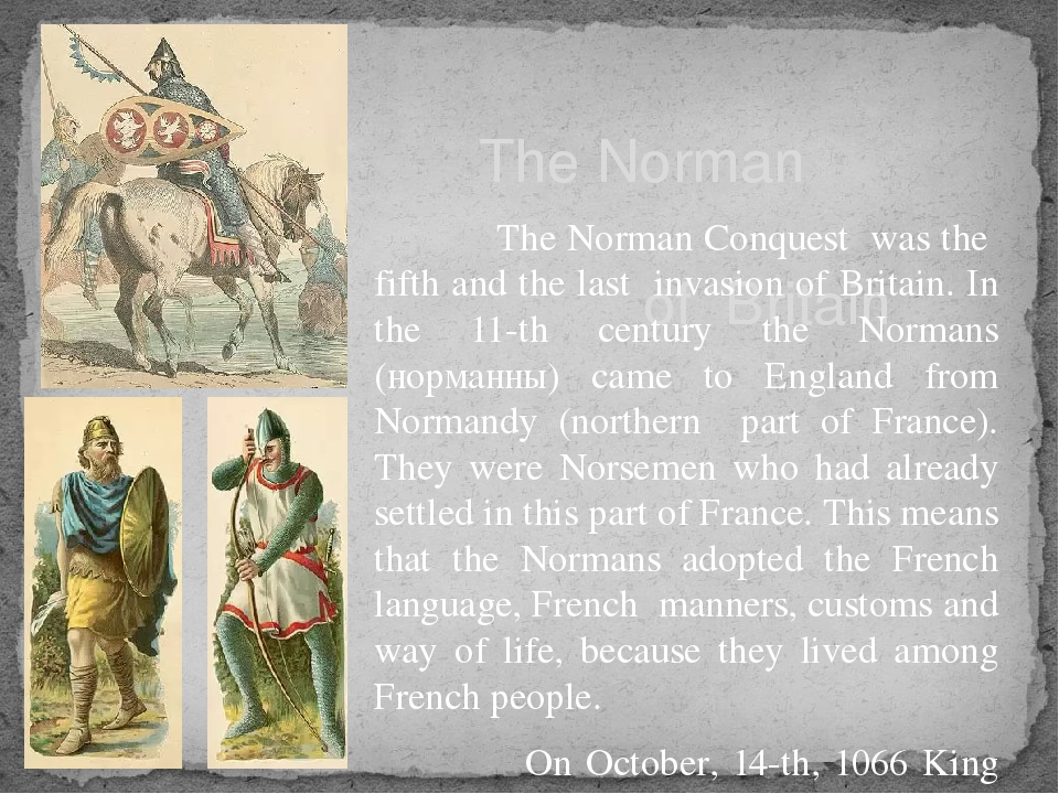 The Norman Conquest of Britain The Norman Conquest was the fifth and the las...