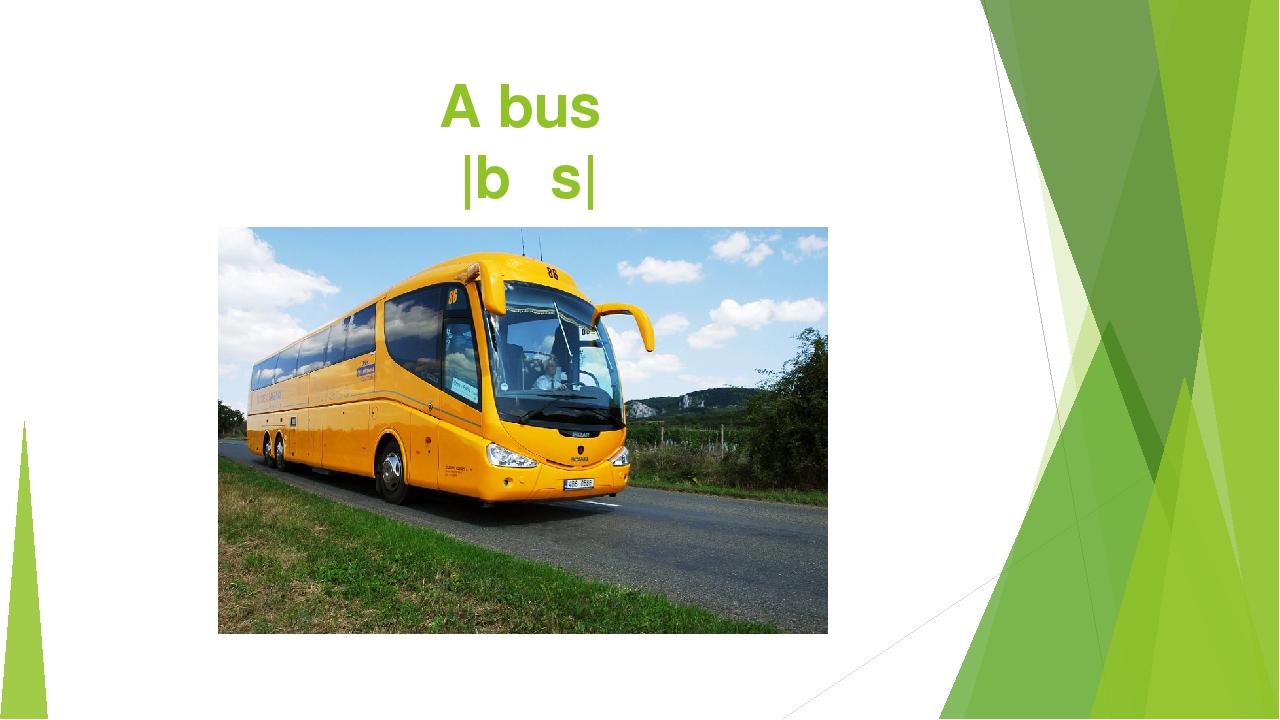 A bus |bʌs|