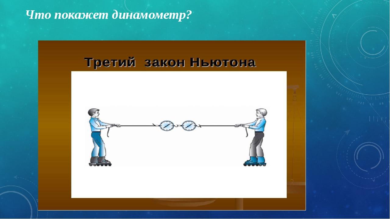 Что покажет динамометр?