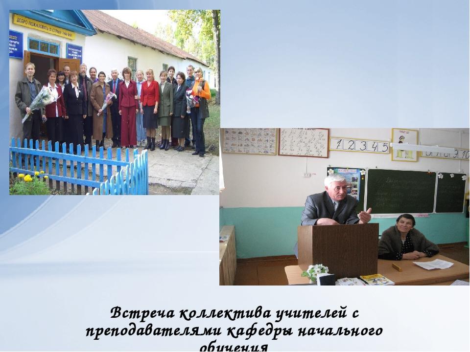 Встреча коллектива учителей с преподавателями кафедры начального обучения