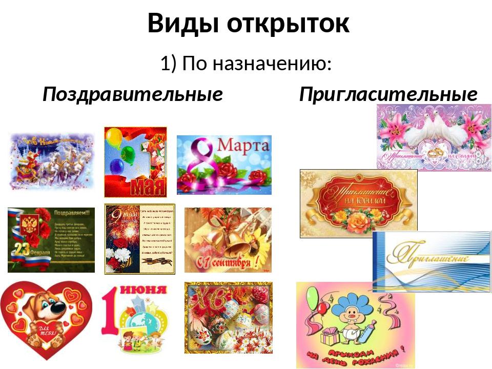 Презентация виды открыток