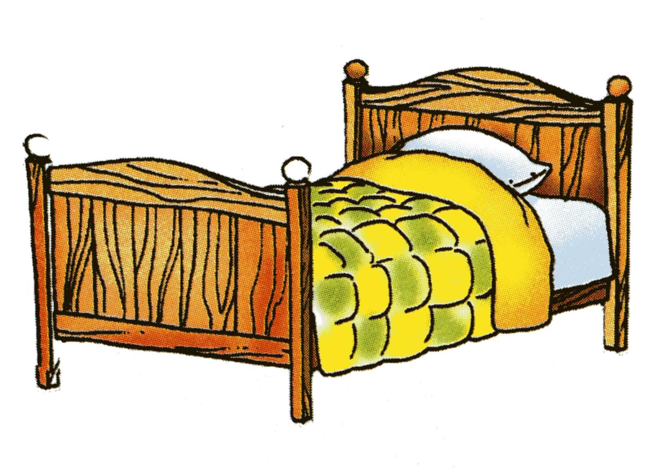 картинка кровать для печати гляссаж