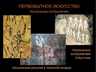 ПЕРВОБЫТНОЕ ИСКУССТВО Наскальные изображения Гобустана Наскальные рисунки в К