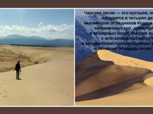 Чарские пески— это пустыня, которая находится вчетырех десятках километров