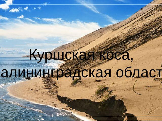 Куршская коса, Калининградская область