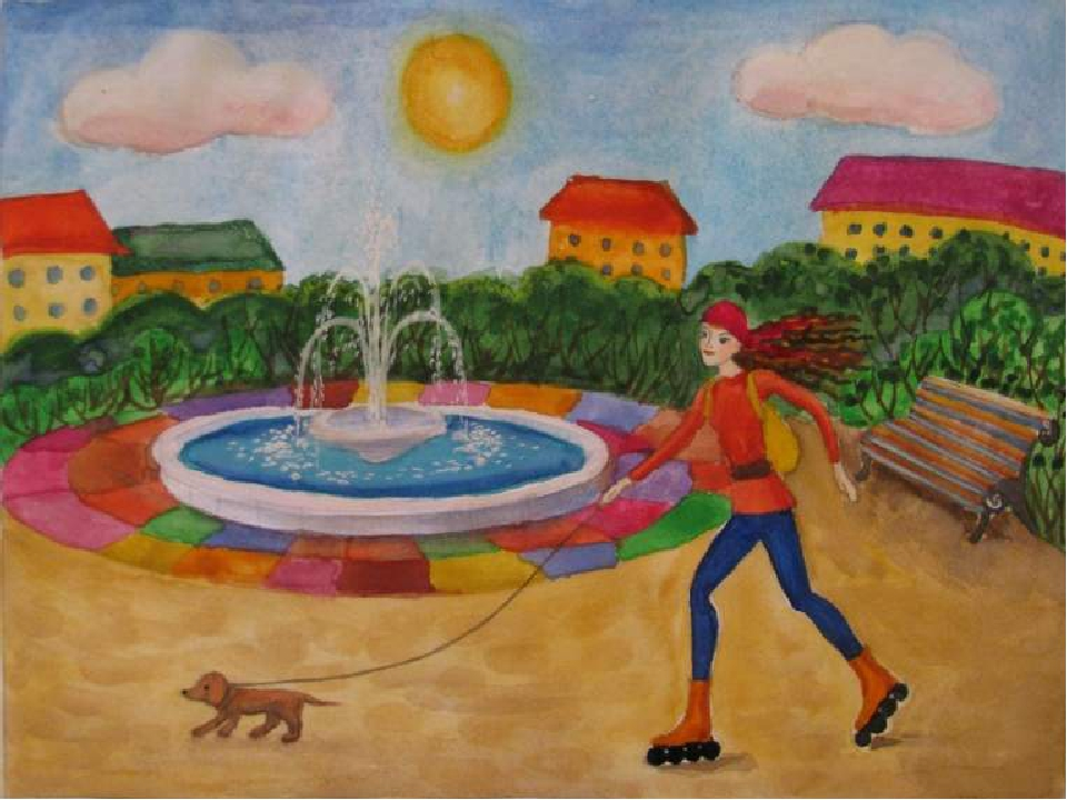Парк детские рисунки