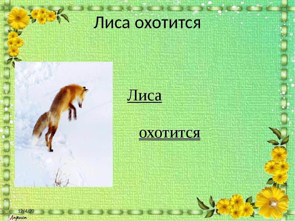 Лиса охотится Лиса охотится