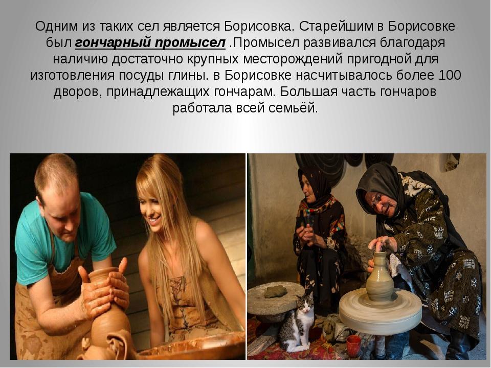 Одним из таких сел является Борисовка. Старейшим в Борисовке был гончарный пр...