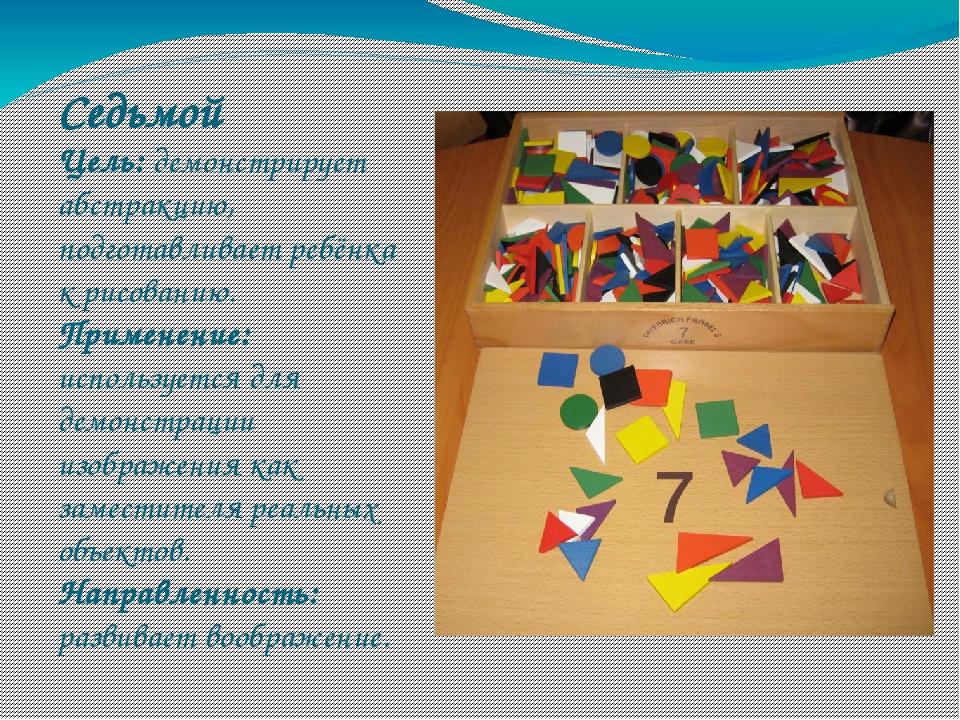 Седьмой Цель: демонстрирует абстракцию, подготавливает ребёнка к рисованию. П...