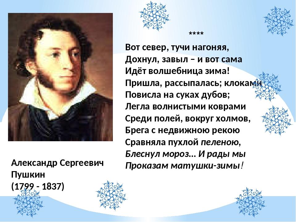 стихи пушкина о зиме картинки может