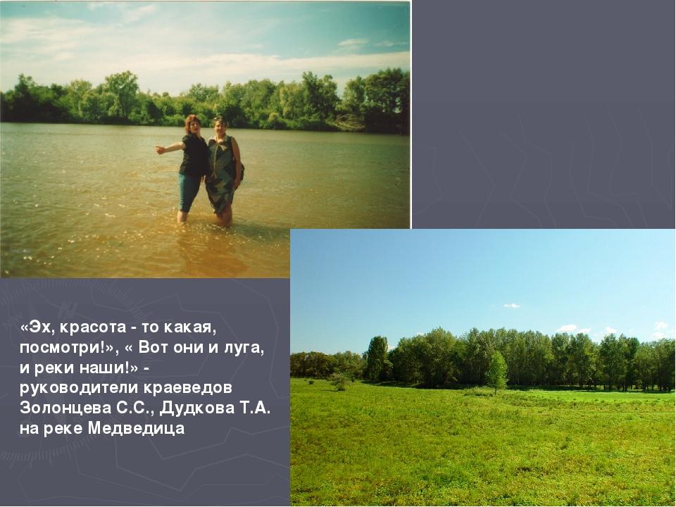 «Эх, красота - то какая, посмотри!», « Вот они и луга, и реки наши!» - руково...