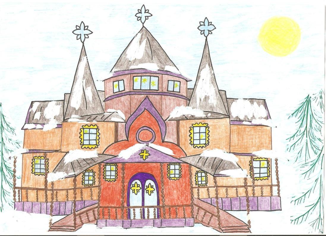 картинка по рисованию сказочный дворец корова порода