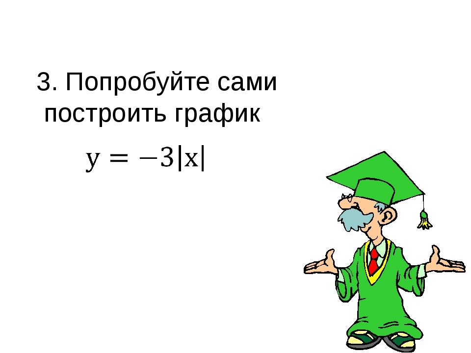 3. Попробуйте сами построить график 1 -17 щелчки анимация Учитель: щелчок 1 Т...