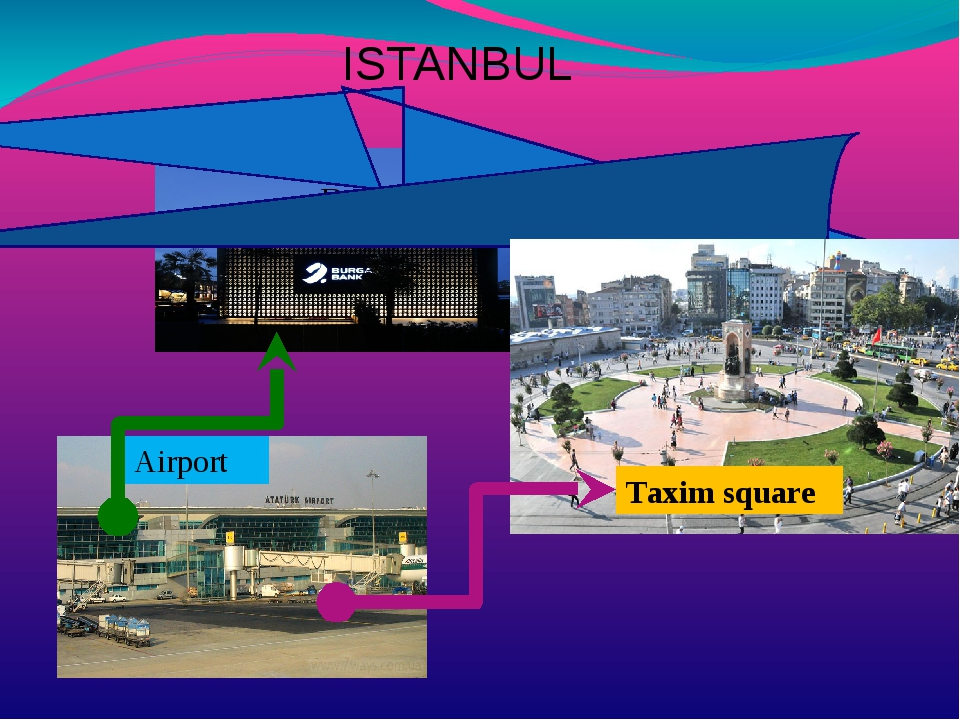 ISTANBUL Bank Airport Taxim square