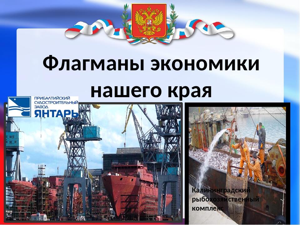 Флагманы экономики нашего края Калининградский рыбохозяйственный комплекс