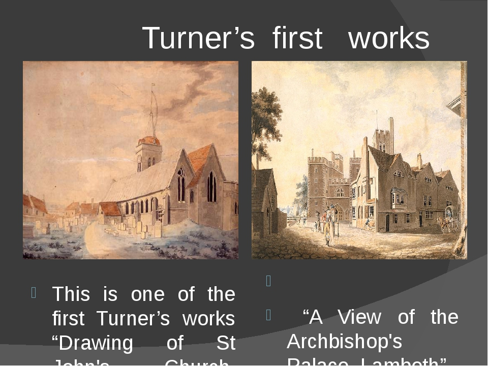 """Turner's first works This is one of the first Turner's works """"Drawing of St..."""