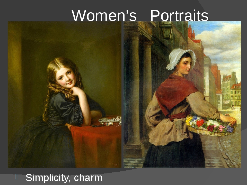 Women's Portraits Simplicity, charm and gracefulness are the traits of Hogar...