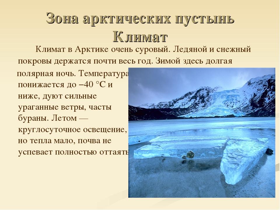 арктические пустыни картинки с описанием брак для
