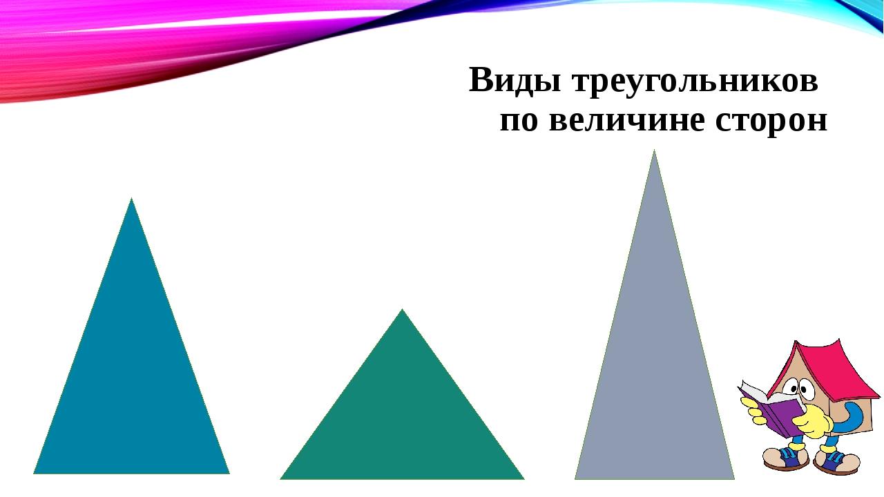 Виды треугольников по величине сторон