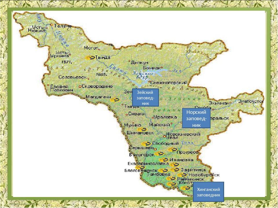 карта амурской области картинки панели