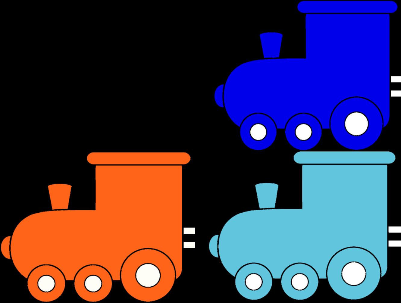 Картинка цветной паровозик