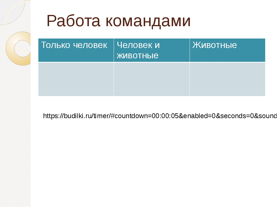 Работа командами https://budilki.ru/timer/#countdown=00:00:05&enabled=0&secon...