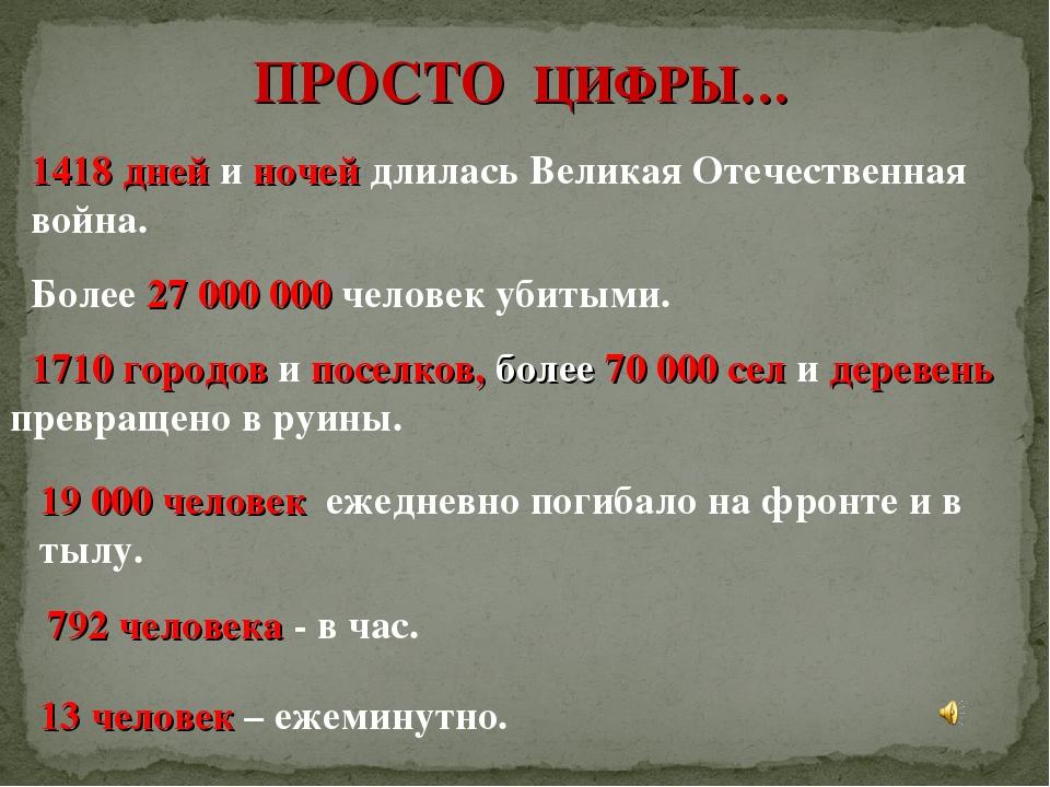 Картинка 1418 дней длилась война