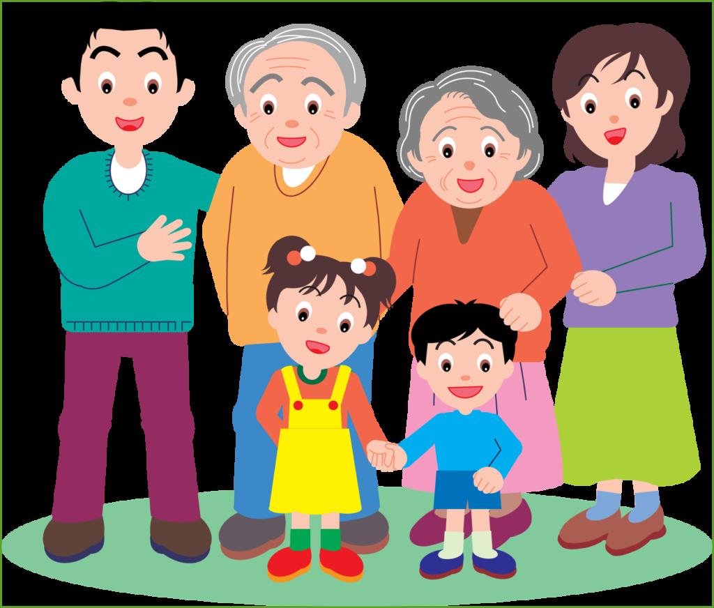 Картинки анимации семья для детей