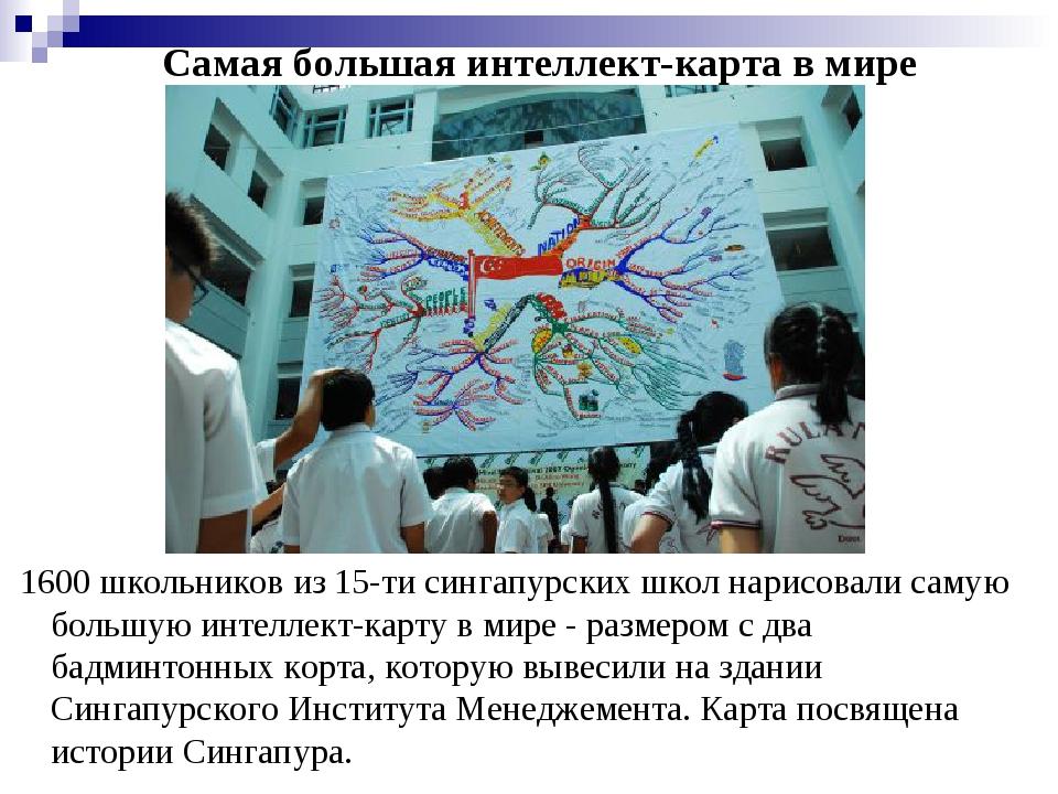 Самая большая интеллект-карта в мире 1600 школьников из 15-ти сингапурских ш...