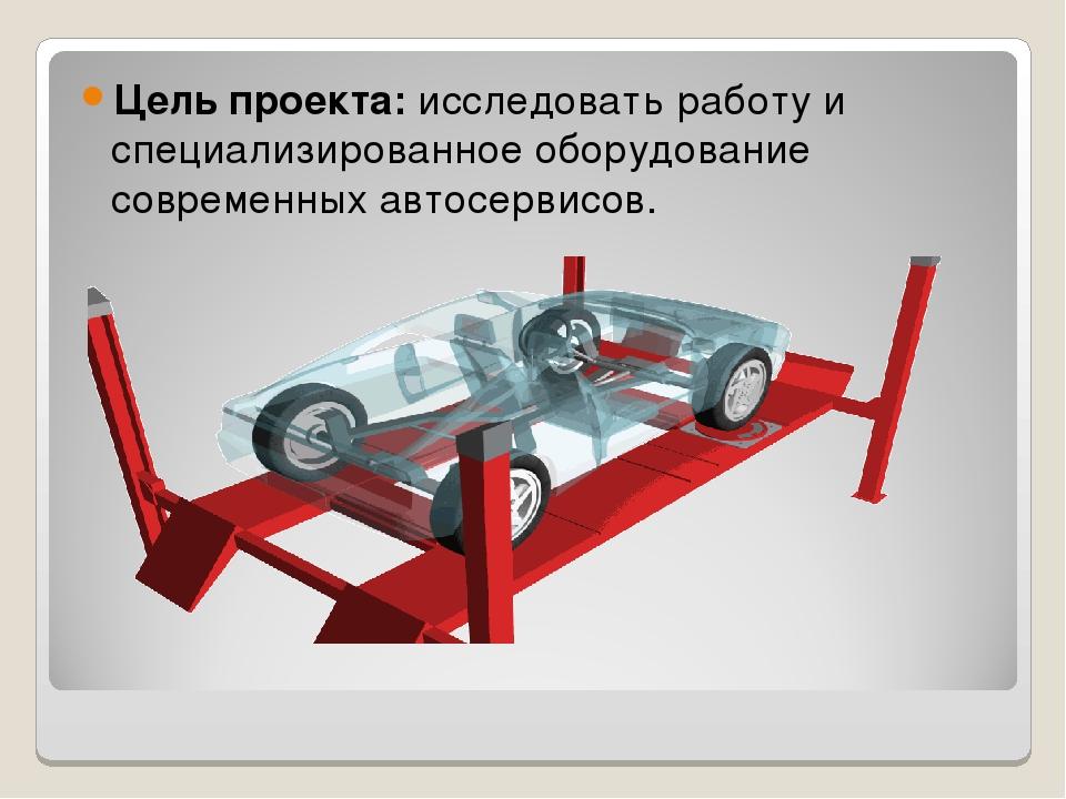 Цель проекта: исследовать работу и специализированное оборудование современны...
