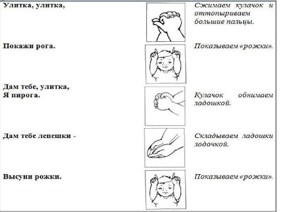 Пальчиковая гимнастика в стишках и картинках