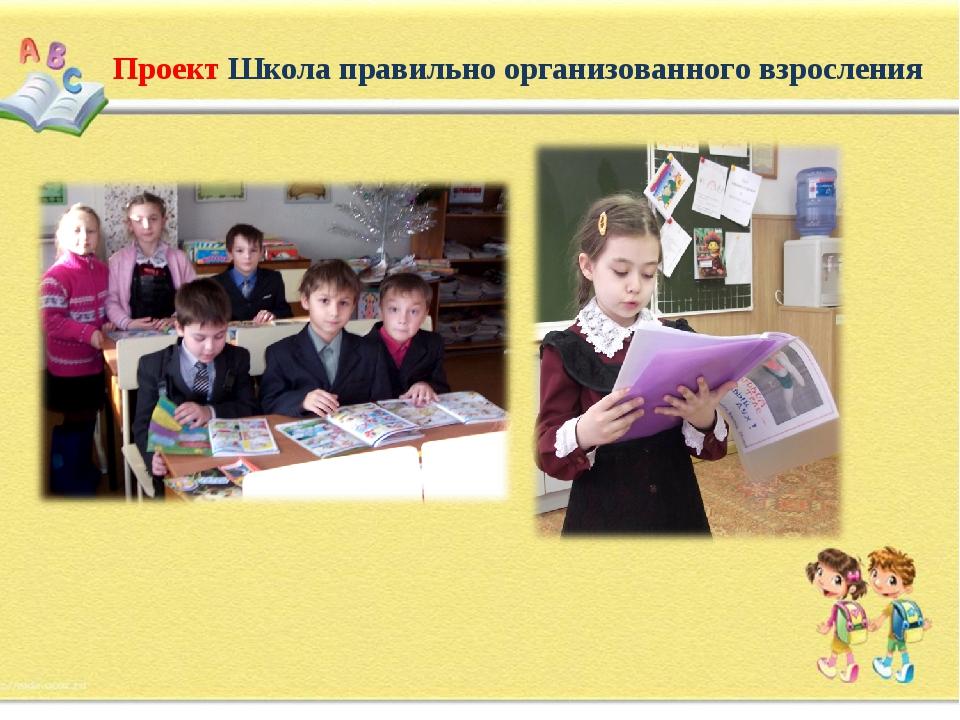 Проект Школа правильно организованного взросления