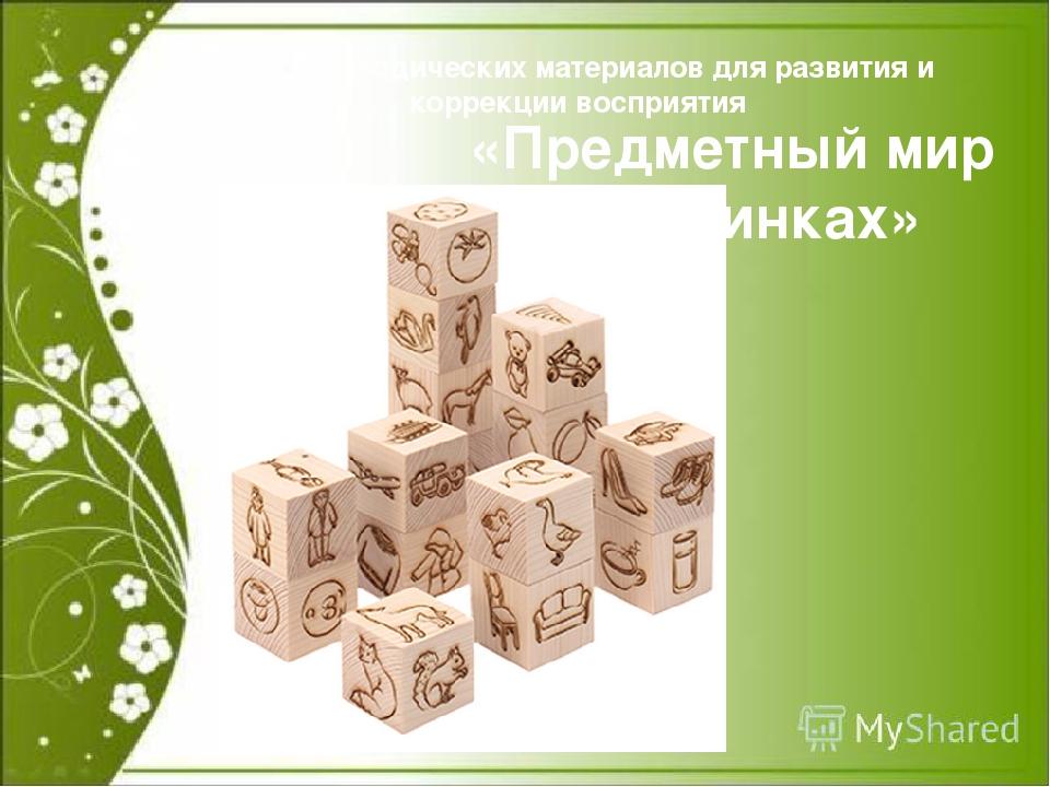 Набор методических материалов для развития и коррекции восприятия «Предметны...