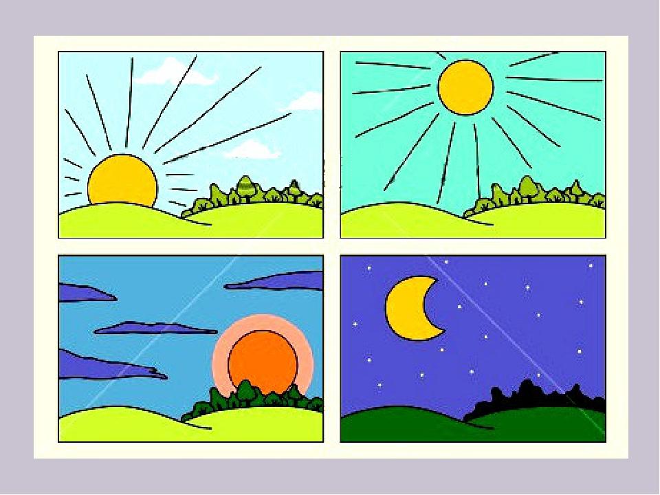 Картинки день ночь для малышей