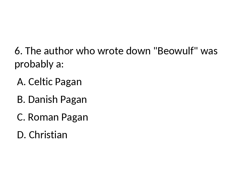 beowulf christian or pagan essay Beowulf christian or pagan essay beowulf christian or pagan essay learn what it means to be a christian & how following jesus christ can help youchristian and pagan elements play an immense role in beowulf.