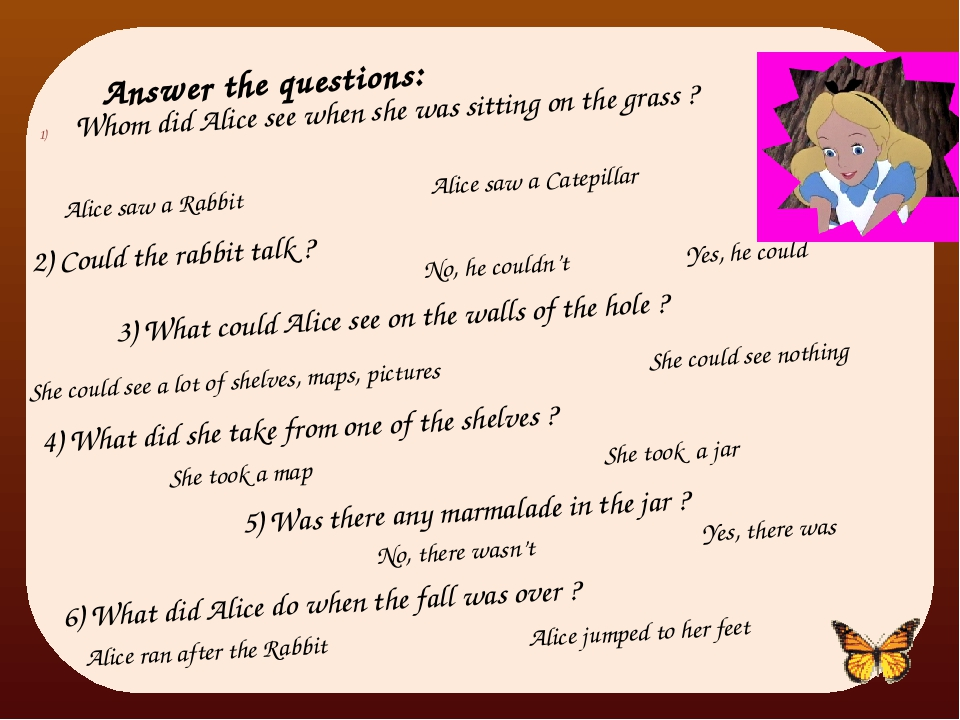Answer the questions: Whom did Alice see when she was sitting on the grass ?...