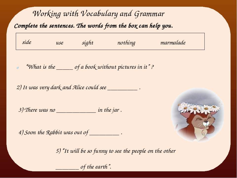 """Working with Vocabulary and Grammar """"What is the _____ of a book without pict..."""