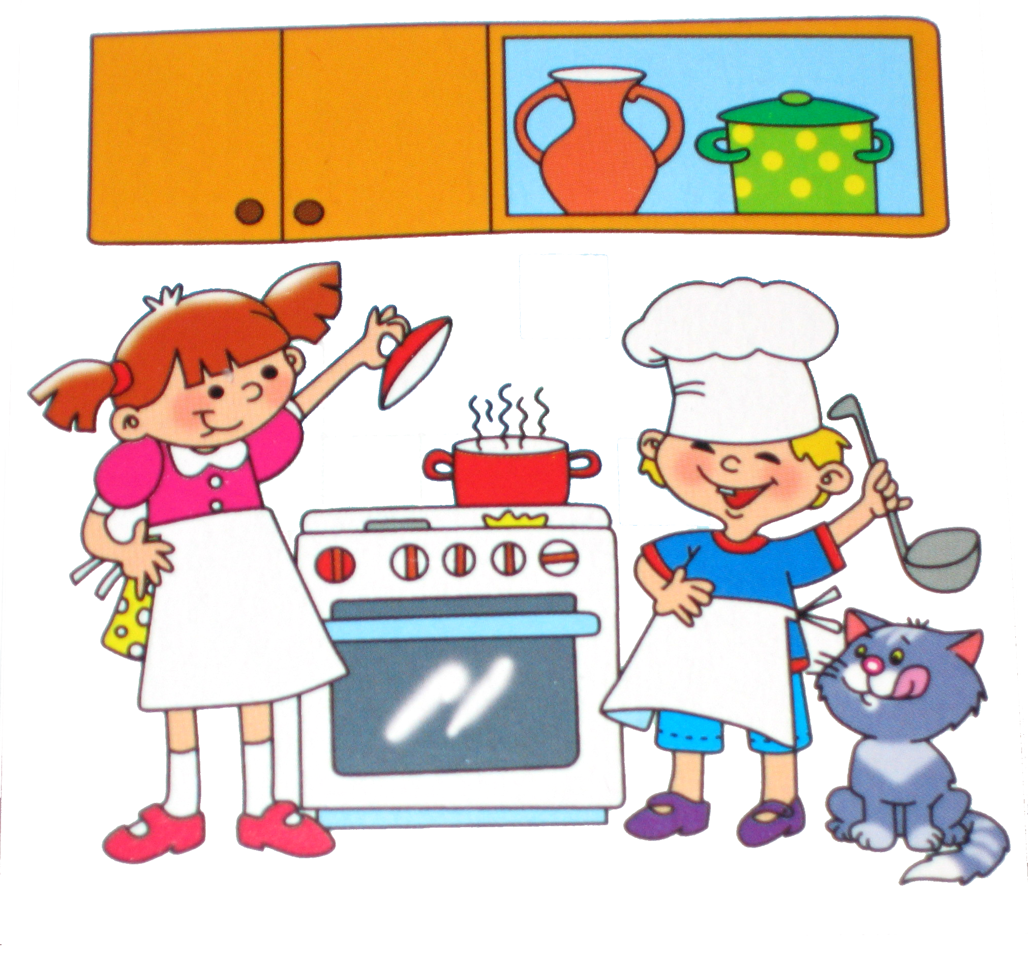Дню рождения, кухня в картинках для детей
