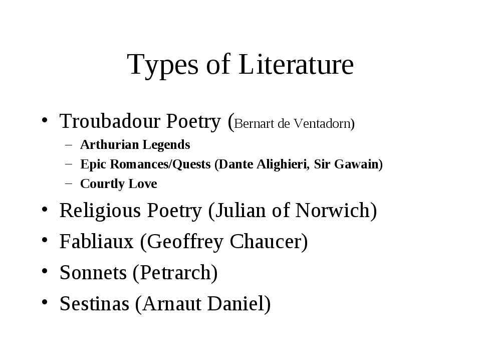 types of literature In literature, tone is the attitude or approach that the author takes toward the work's central theme or subject works of literature can have many different types of tone, such as humorous, solemn, distant, intimate, ironic, arrogant, condescending, sentimental, and so on.