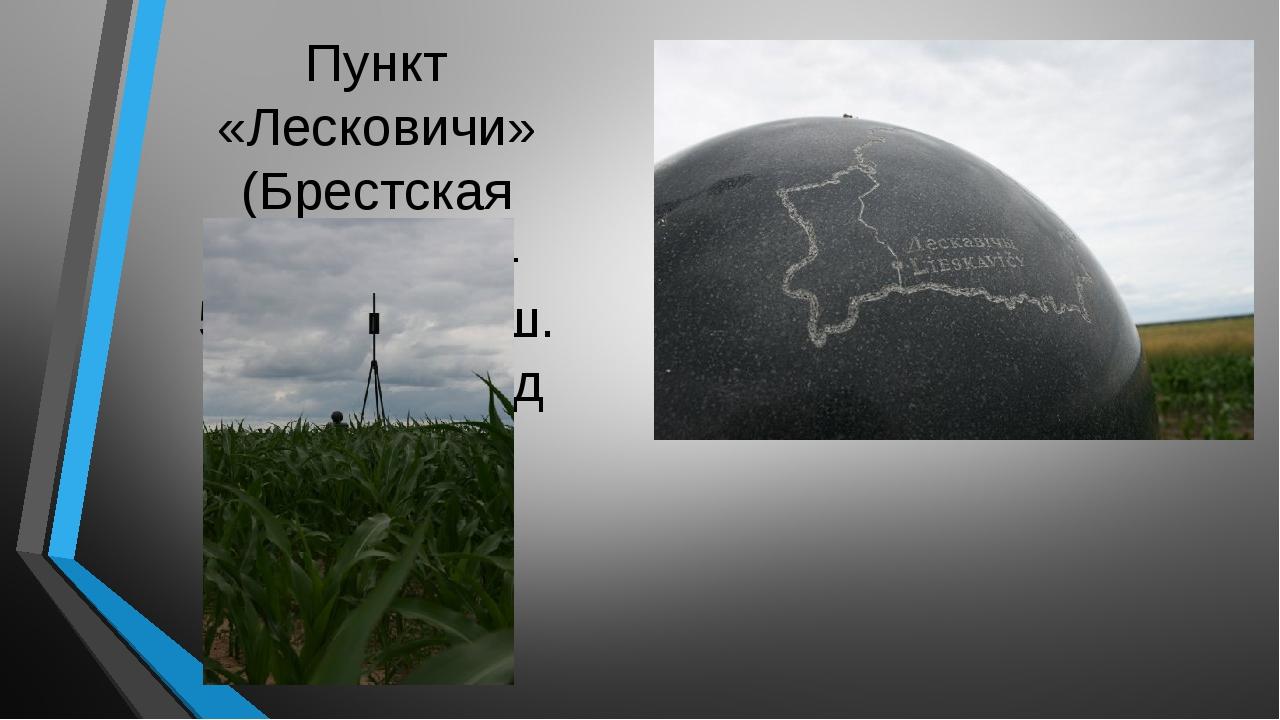 Пункт «Лесковичи» (Брестская область)— 52°16′08″ с. ш. 25°57′18″ в. д
