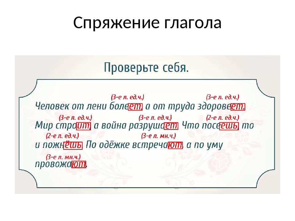 Спряжение глагола