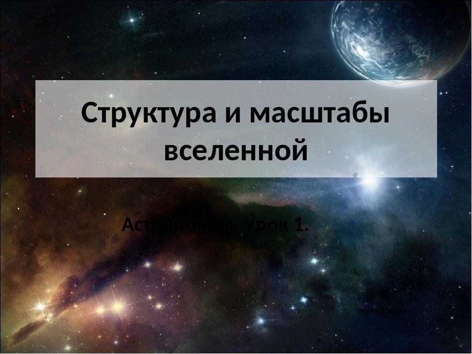 Структура и масштабы вселенной Астрономия. Урок 1.