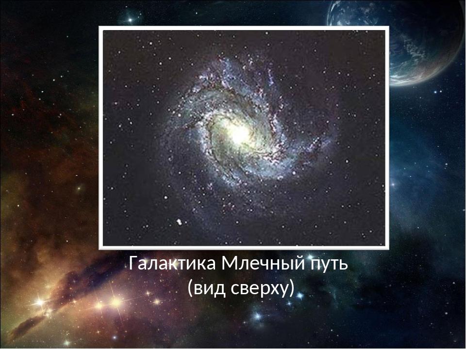 Галактика Млечный путь (вид сверху)