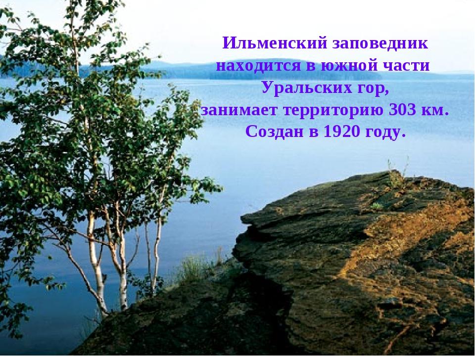 Ильменский заповедник находится в южной части Уральских гор, занимает террито...