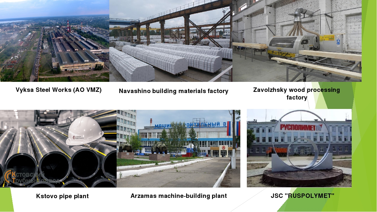 Vyksa Steel Works (AO VMZ) Navashino building materials factory Zavolzhsky wo...