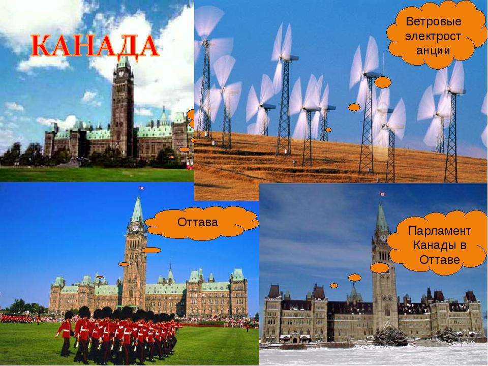 оттава Ветровые электростанции Оттава Парламент Канады в Оттаве