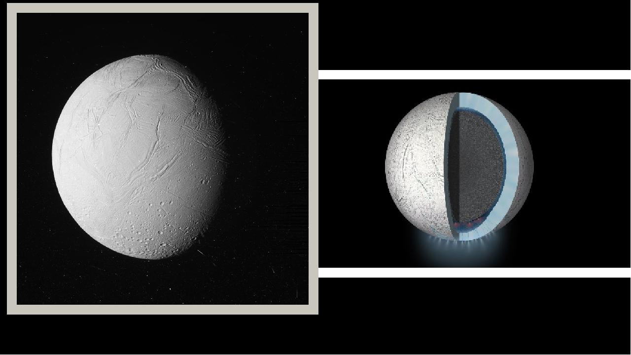 Строение и внешний вид Энцелад